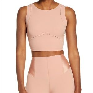 Nike tech pack crop training top in rose gold